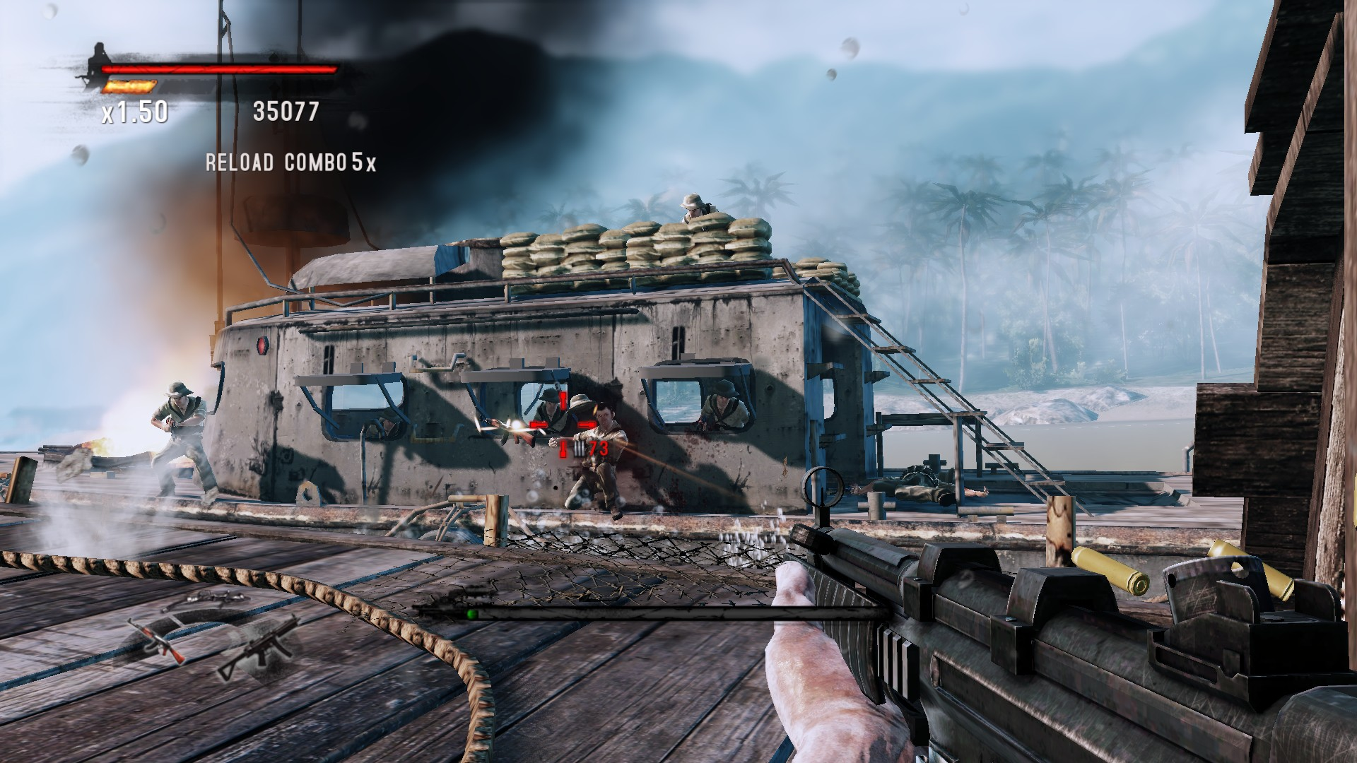 681863-rambo-the-video-game-windows-screenshot-gunfight-on-boats.jpg