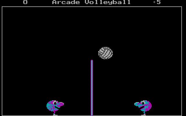 Arcade Volleyball (1988 - DOS). Ссылки, описание, обзоры, скриншоты,  видеоролики на Old-Games.RU