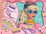 [Скриншот: Barbie: Magic Hair Styler]
