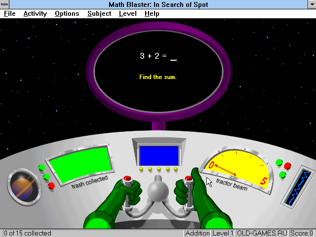 Скриншоты Math Blaster Episode I: In Search of Spot на Old
