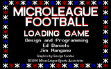 MicroLeague Football: The Coach's Challenge