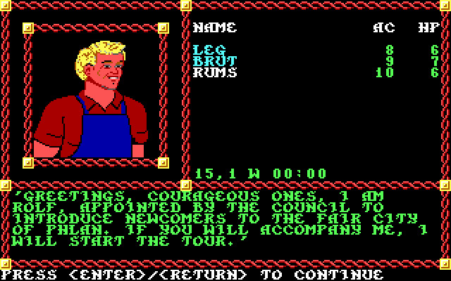 Pool of radiance 1988 review for MS-DOS