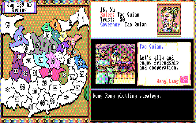 Скриншоты Romance of the Three Kingdoms II на Old-Games RU